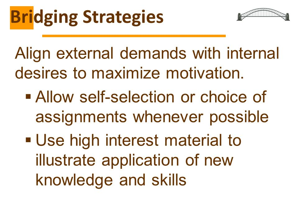 Align external demands with internal desires to maximize motivation.