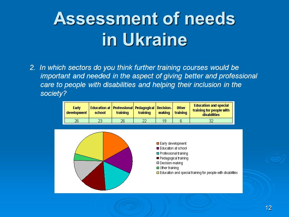 12 Assessment of needs in Ukraine 2.