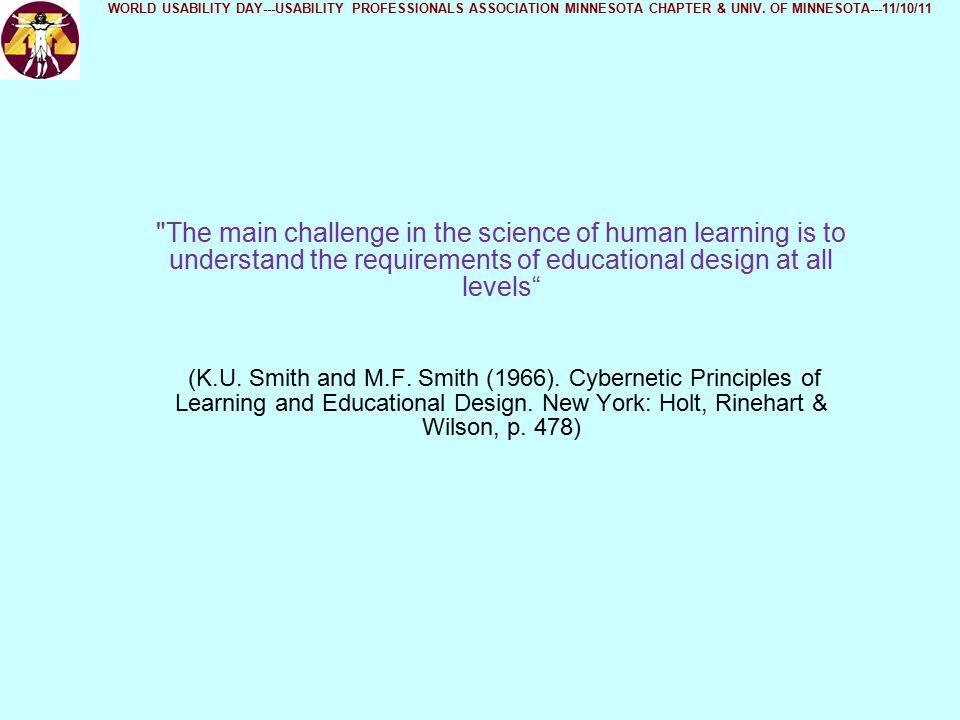 School Size WORLD USABILITY DAY---USABILITY PROFESSIONALS ASSOCIATION MINNESOTA CHAPTER & UNIV.