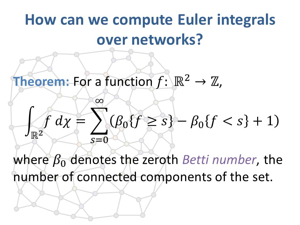 How can we compute Euler integrals over networks?