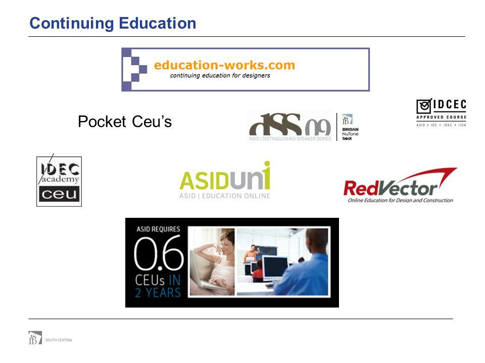 Continuing Education Pocket Ceu's
