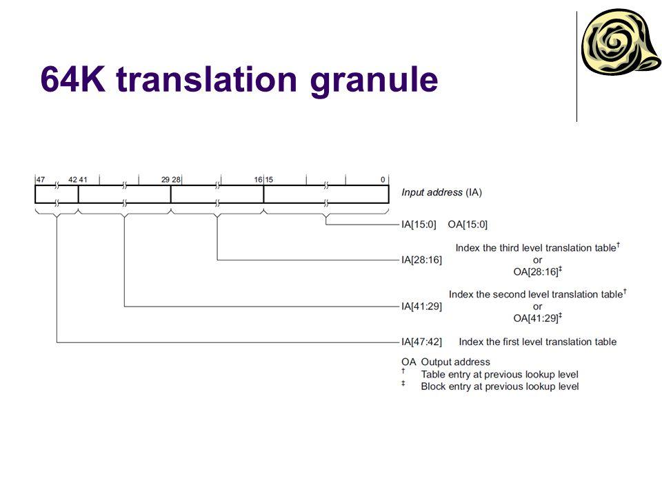 64K translation granule