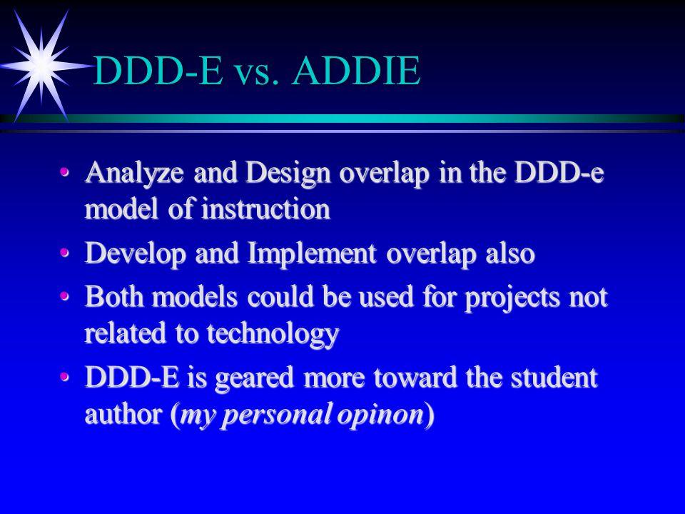 DDD-E vs.