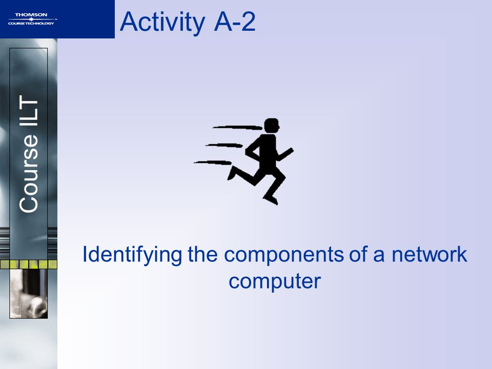 Course ILT Activity A-2 Identifying the components of a network computer