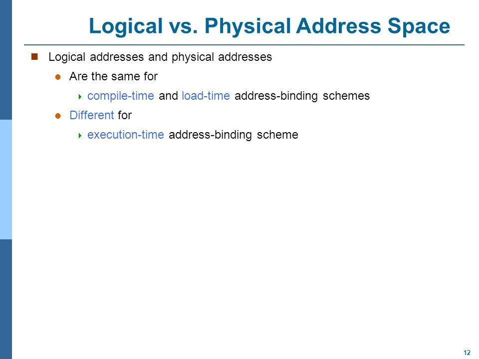 12 Logical vs.