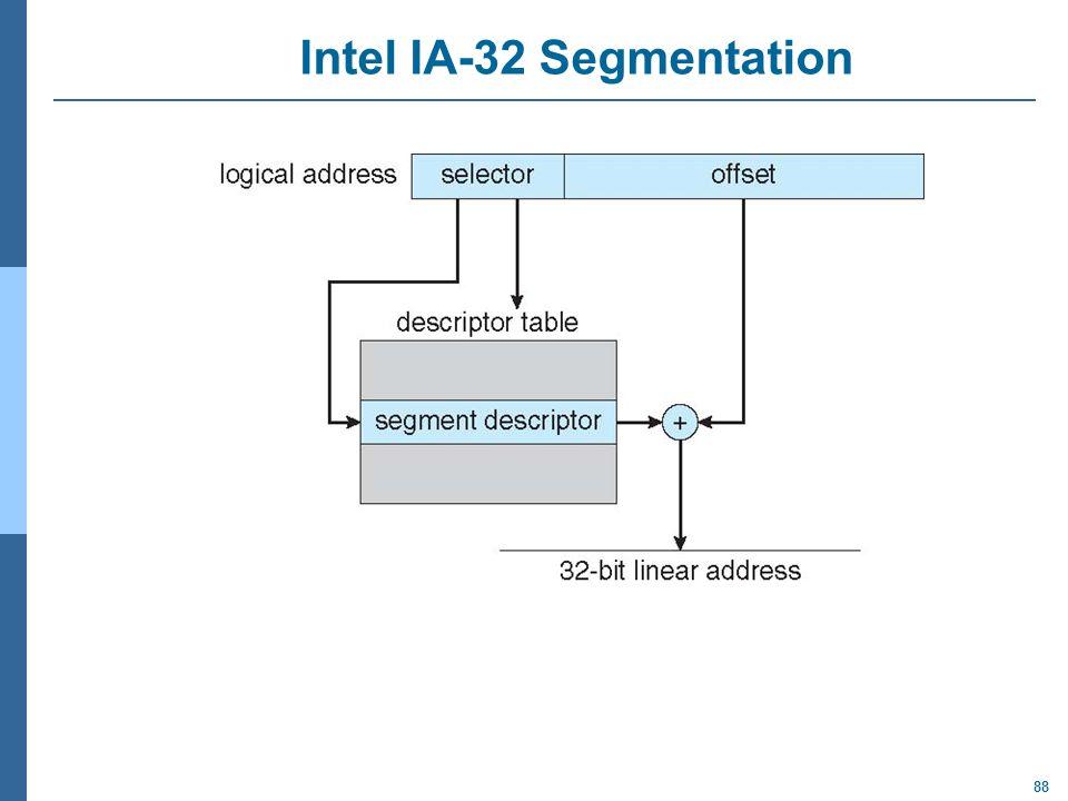 88 Intel IA-32 Segmentation