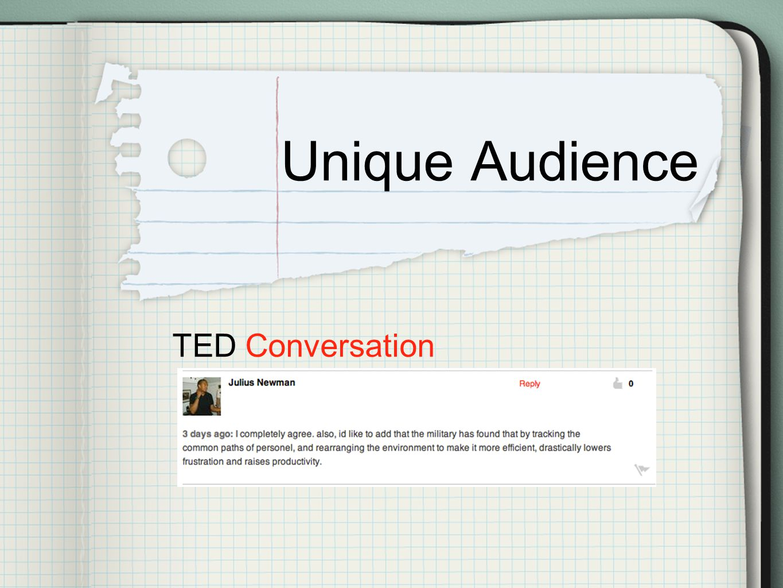Unique Audience TED Conversation