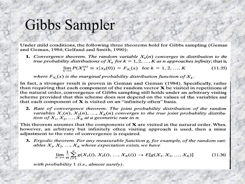 Gibbs Sampler n (11.35, 11.36, 11.37)