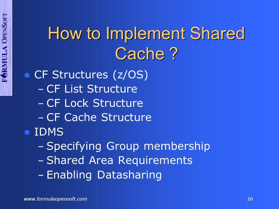 www.formulaopensoft.com15 PRD Environments XCF V04 IDMSD V05 IDMSE V09 IDMSI DB Data entryArbitrageFile trf V16 IDMSP DB Clients V10 IDMSJ V11 IDMSK V14 IDMSN DB KredietenClientsbatchClients V18 IDMSR dict Base V06 IDMSF RSTU