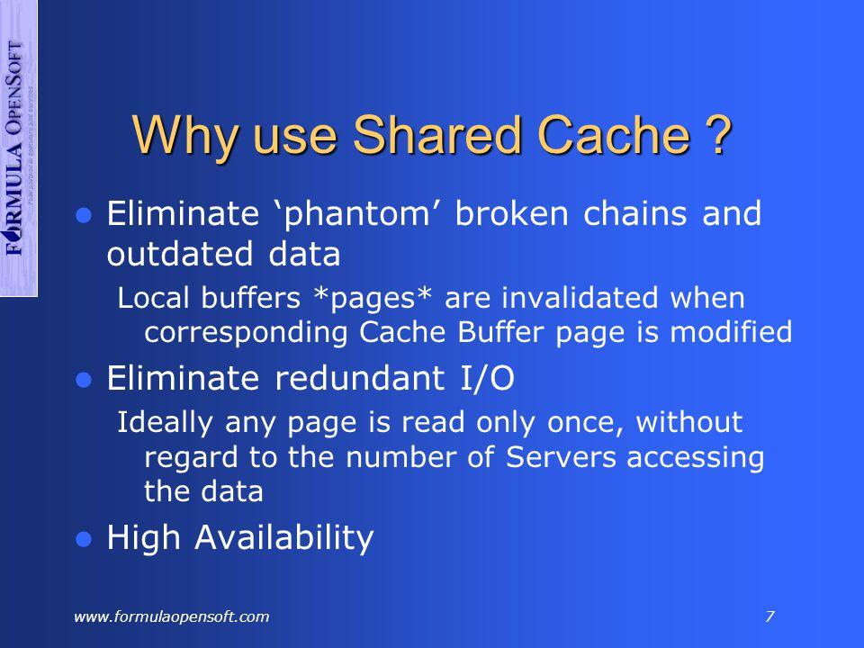 www.formulaopensoft.com7 Why use Shared Cache .