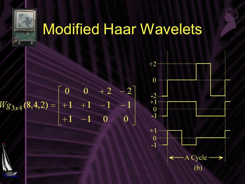 Modified Haar Wavelets