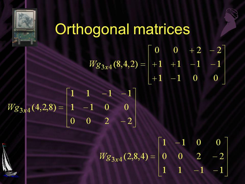 Orthogonal matrices