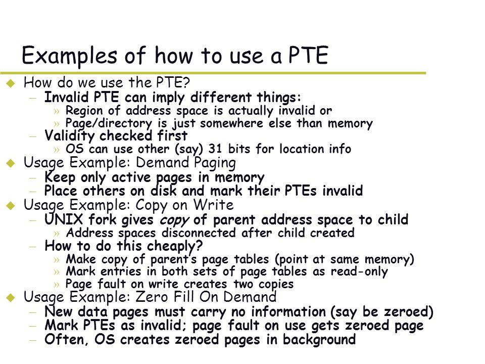 What TLB organization makes sense.