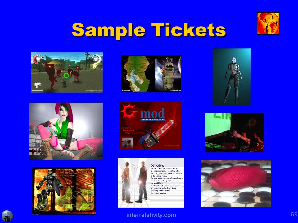 interrelativity.com 69 Sample Tickets