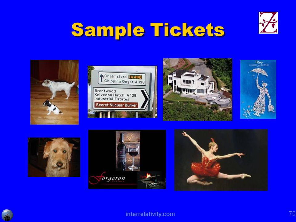 interrelativity.com 70 Sample Tickets