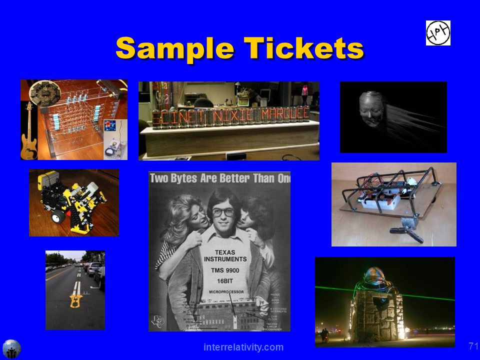interrelativity.com 71 Sample Tickets