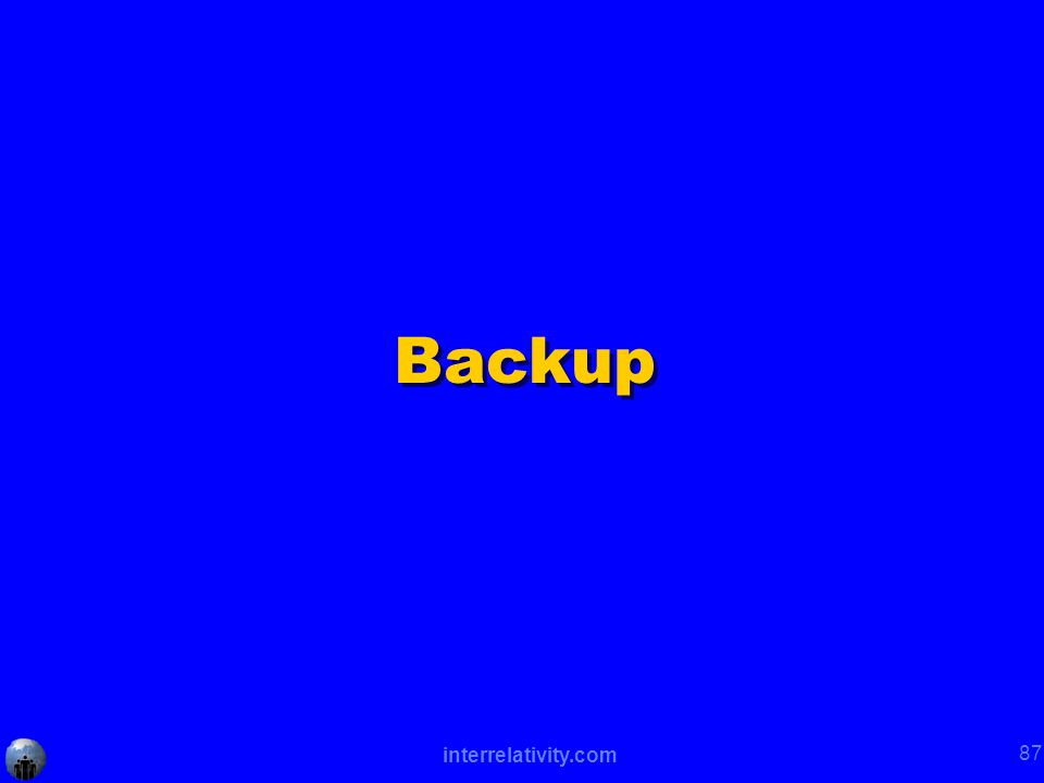 interrelativity.com 87 Backup