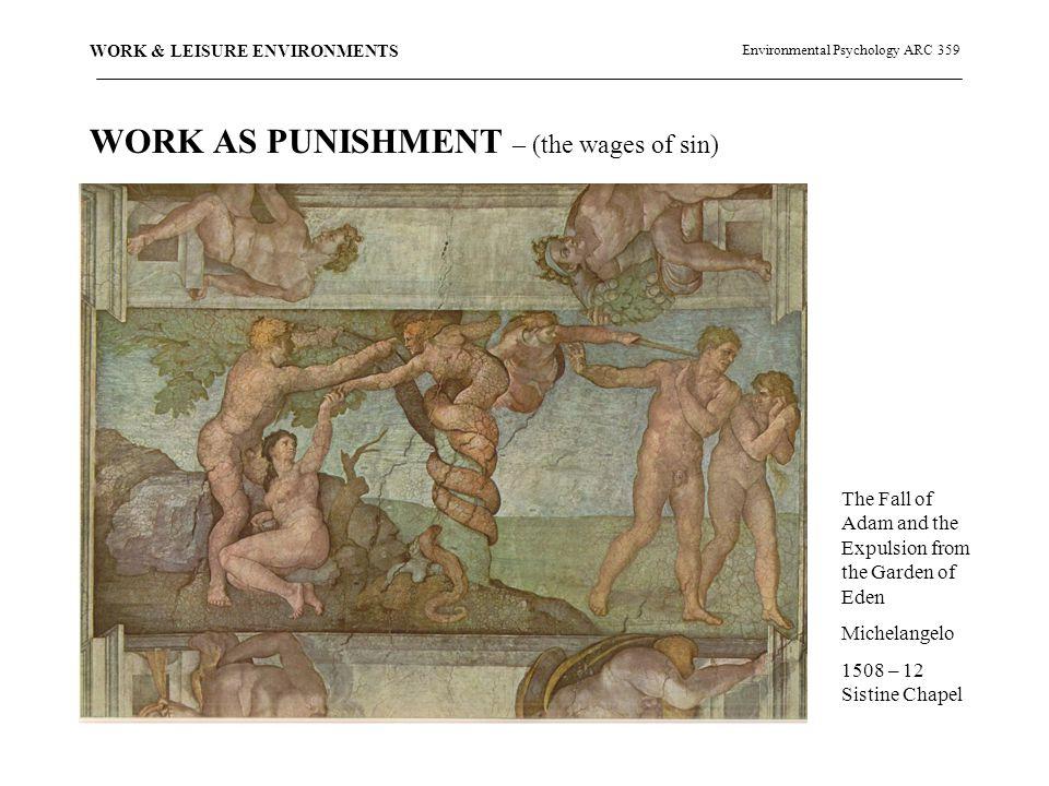 Environmental Psychology ARC 359 WORK & LEISURE ENVIRONMENTS