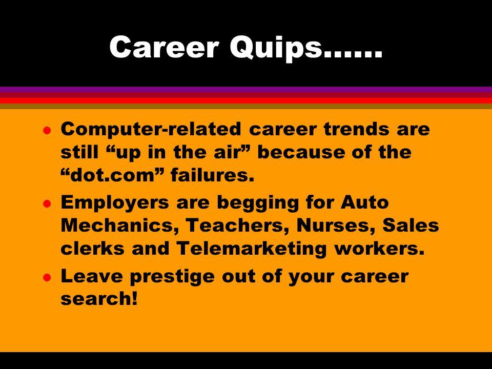 Career Quips…...