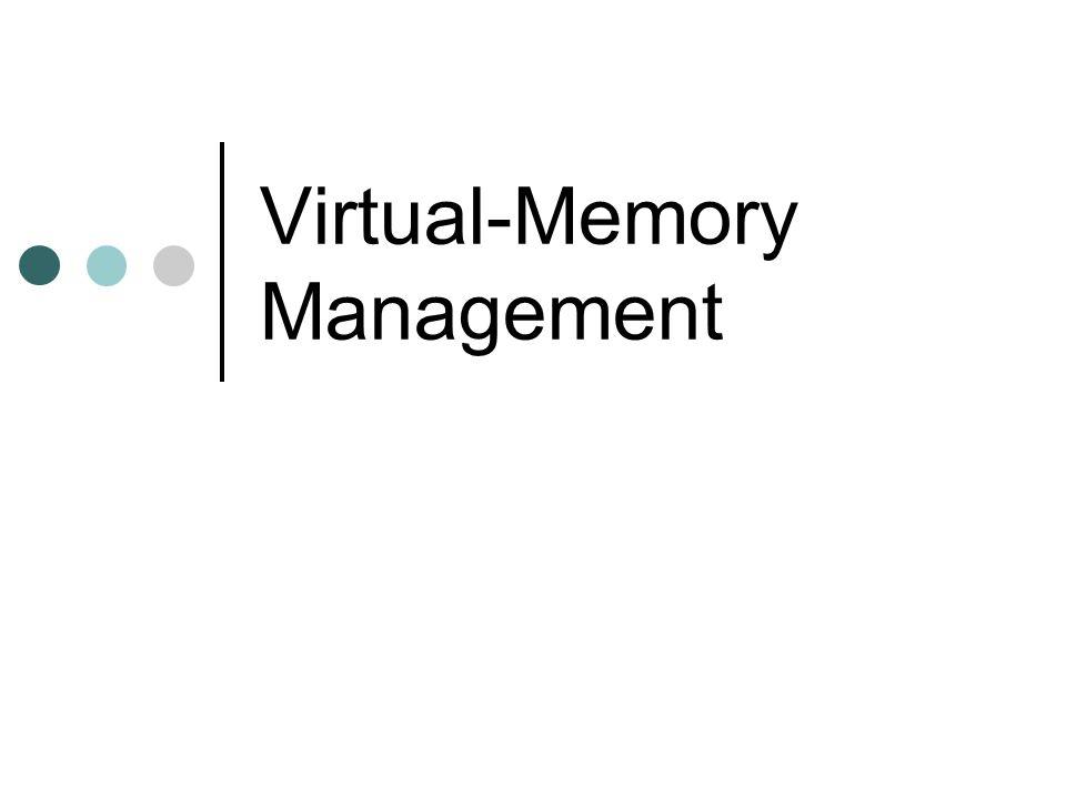 Virtual-Memory Management
