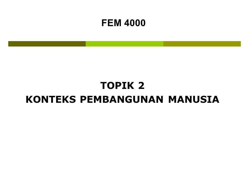 FEM 4000 TOPIK 2 KONTEKS PEMBANGUNAN MANUSIA