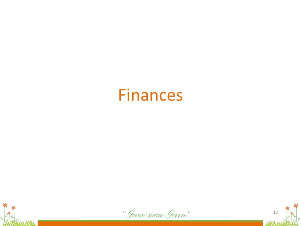10 Finances