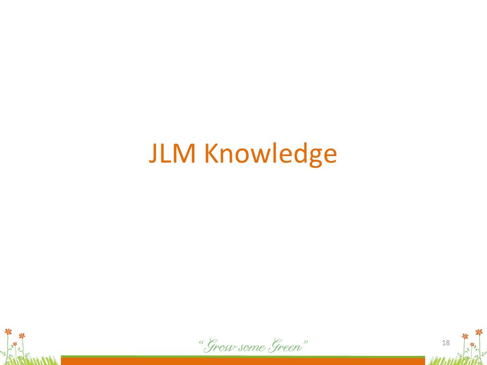 18 JLM Knowledge