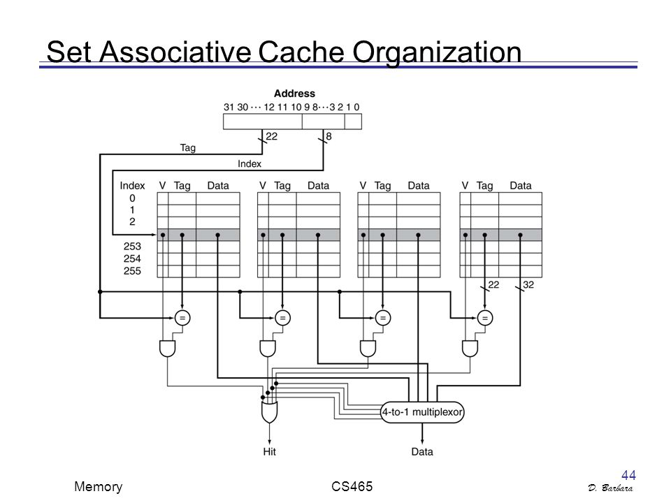 D. Barbara Memory CS Set Associative Cache Organization