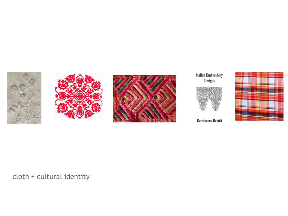 cloth + cultural identity