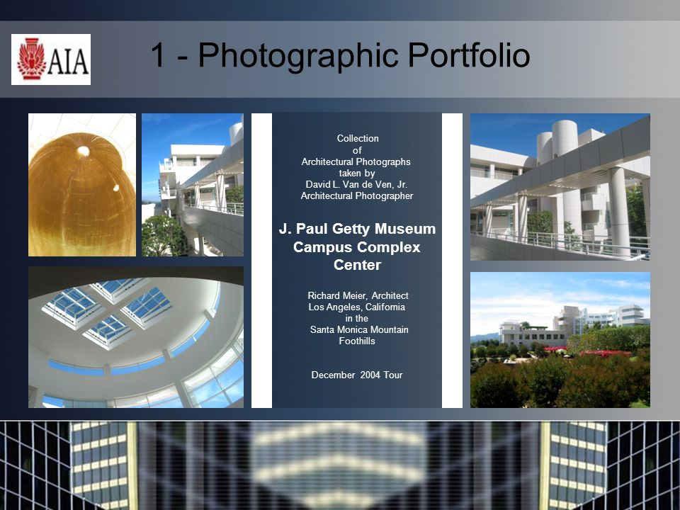 1 - Photographic Portfolio Collection of Architectural Photographs taken by David L.