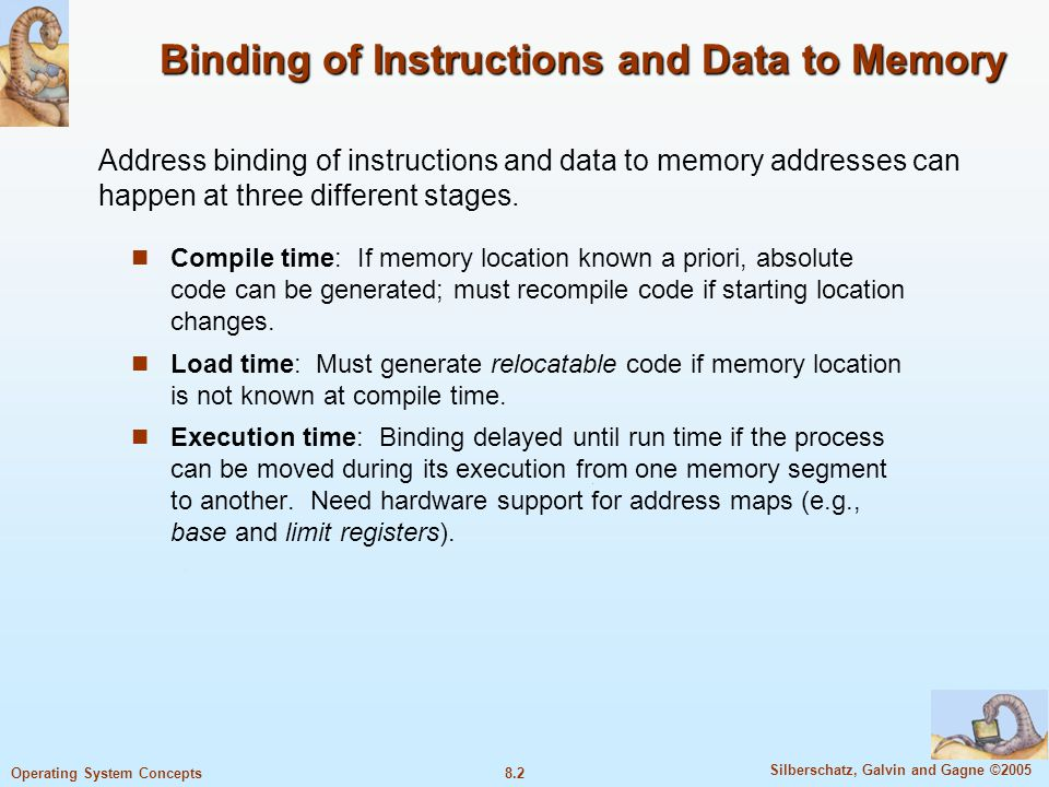 8.23 Silberschatz, Galvin and Gagne ©2005 Operating System Concepts TLB (continuetd) If the page number searched is not in the TLB (called TLB miss), a memory reference to the page table must be made.