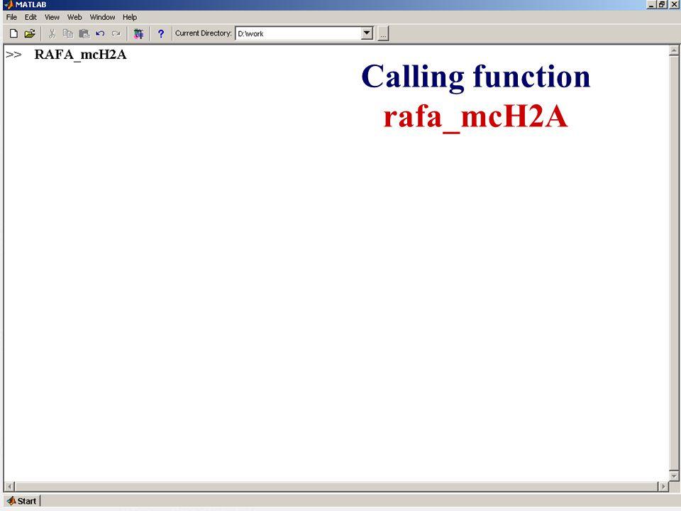 Calling function rafa_mcH2A