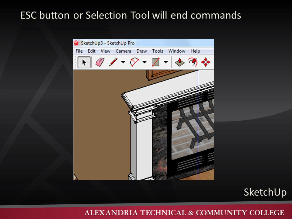 ESC button or Selection Tool will end commands