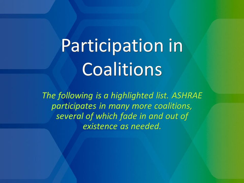 ASHRAE founded in 2007 and has lead ever since.Now co-chaired by ASHRAE and IAPMO.