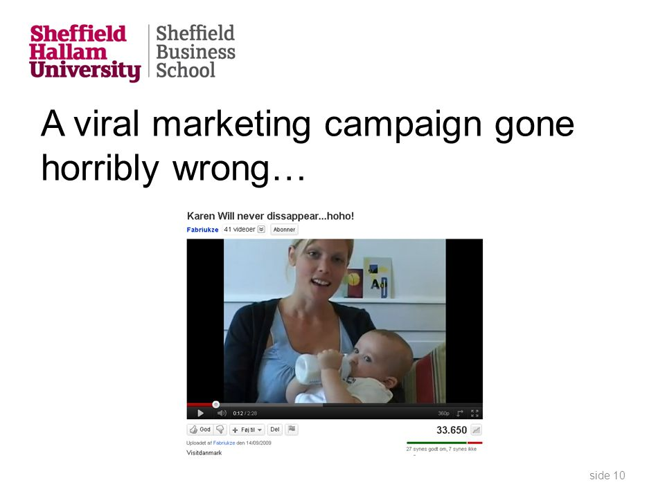 A viral marketing campaign gone horribly wrong… side 10