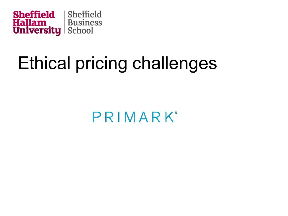 Ethical pricing challenges