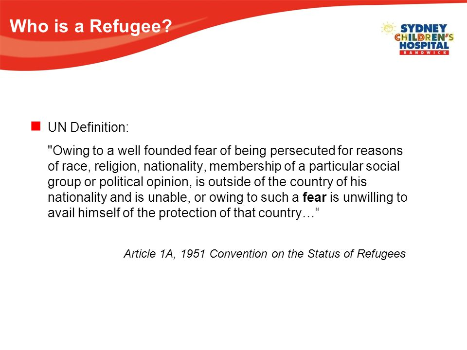 Who is a Refugee.