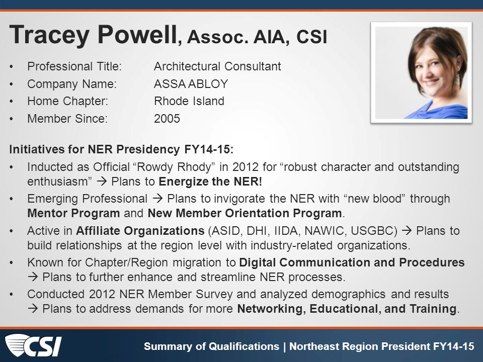Tracey Powell, Assoc.