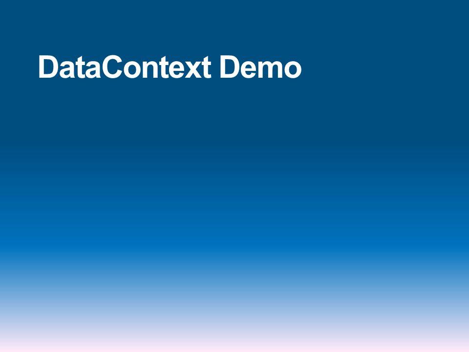 DataContext Demo
