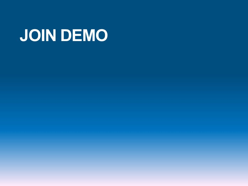 JOIN DEMO