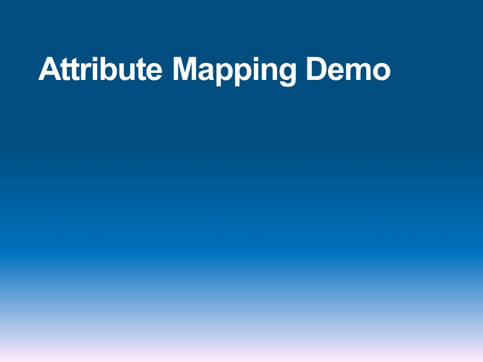 Attribute Mapping Demo