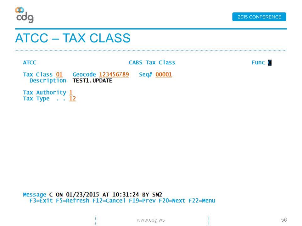 ATCC – TAX CLASS 56www.cdg.ws