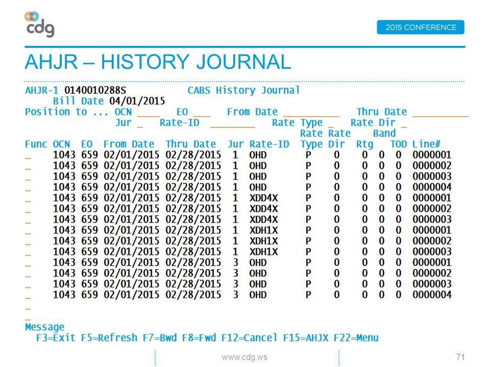 AHJR – HISTORY JOURNAL 71www.cdg.ws