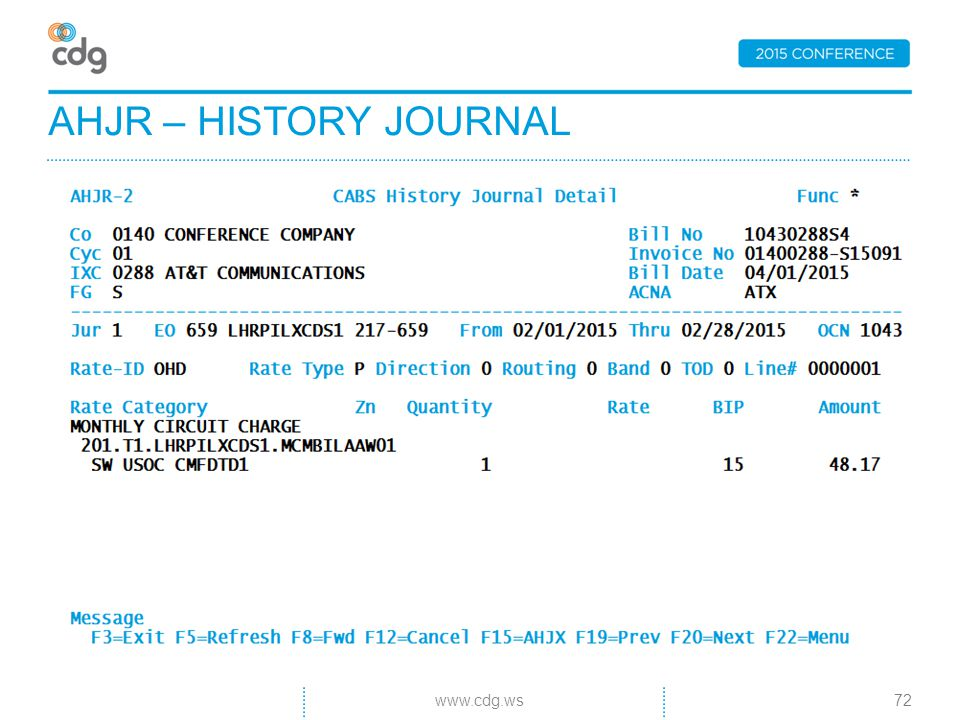 AHJR – HISTORY JOURNAL 72www.cdg.ws