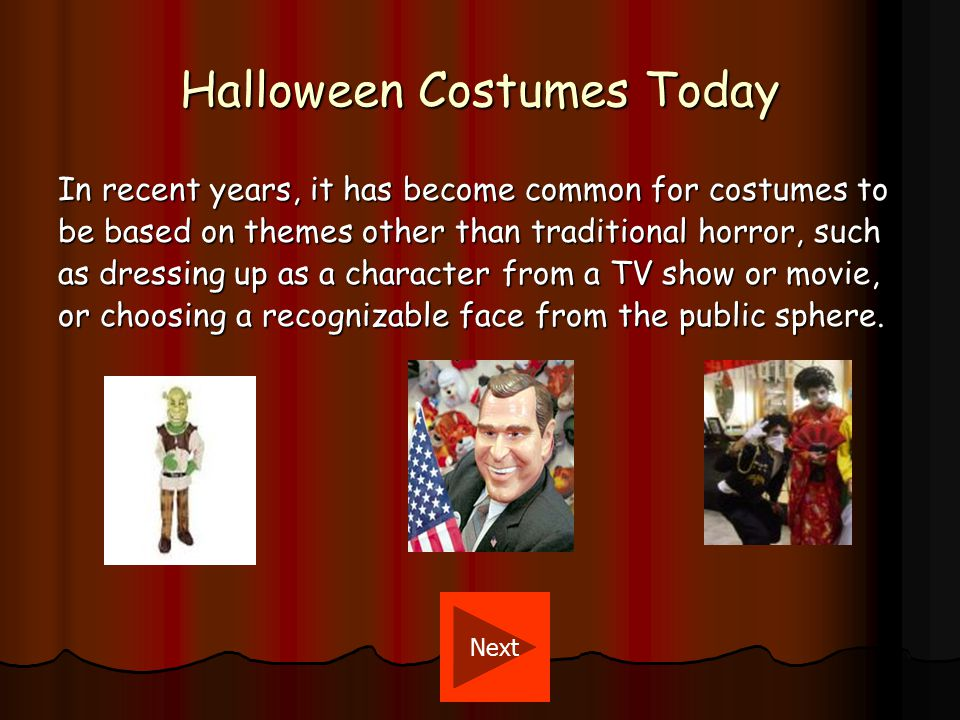 Why People Wear Costumes.