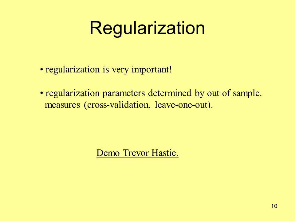 10 Regularization Demo Trevor Hastie. regularization is very important.