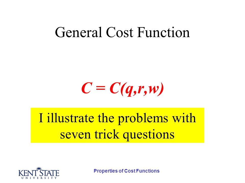 Properties of Cost Functions Third Trick Question Is it possible that higher wage rates will to enough substitution to lower total costs for the given level of output?