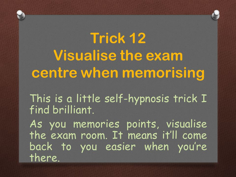 This is a little self-hypnosis trick I find brilliant.