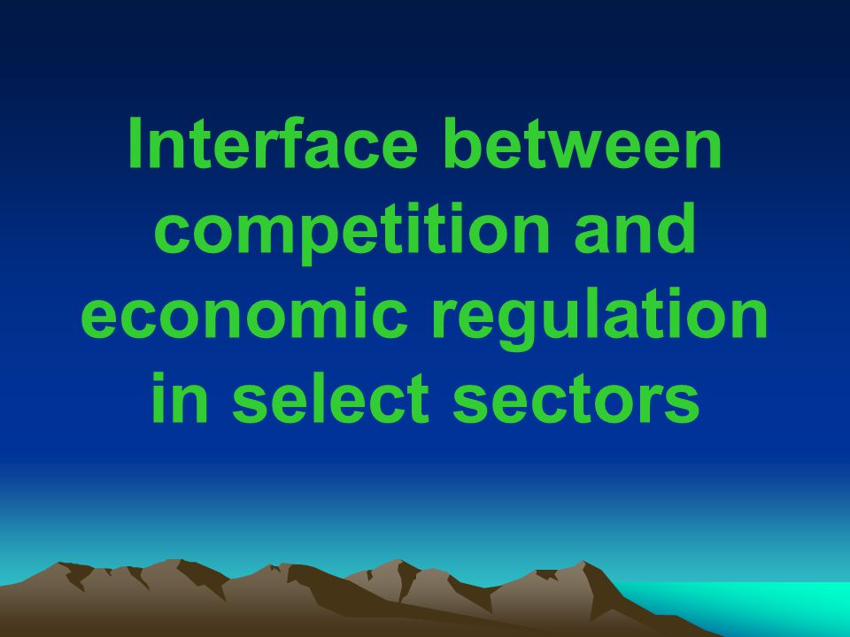 Interface between competition and economic regulation in select sectors