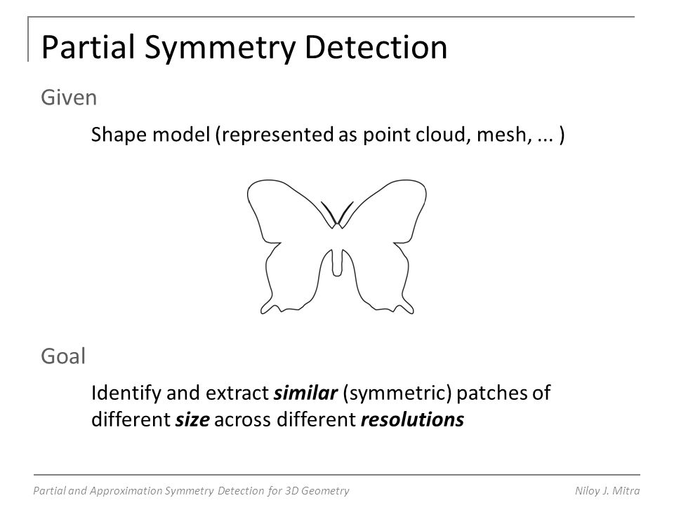 Partial and Approximation Symmetry Detection for 3D GeometryNiloy J.